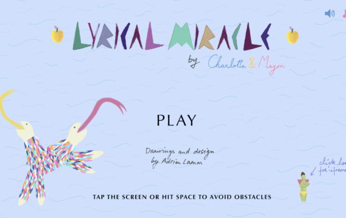 Découvre des extraits de l'album «Lyrical Miracle» de Charlotte & Magon en Jeu vidéo!