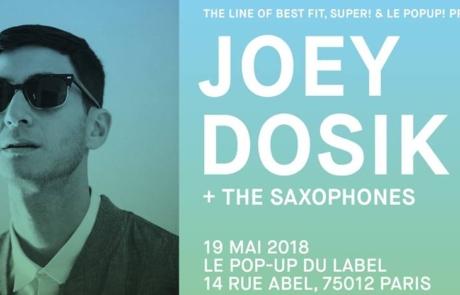 [Jeu concours] Joey Dosik charme le Pop Up le 19.05