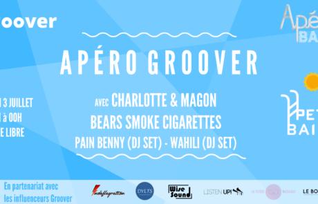 Groover propose un apéro musical le 03.07 à Petit Bain