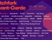 pitchfork avant-garde 2018