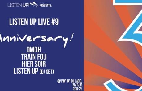 Listen Up Live #9 : Anniversary!