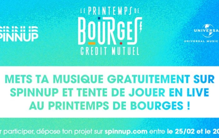 Avec Spinnup, venez jouer au Printemps de Bourges!